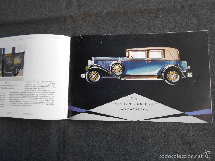 Coches y Motocicletas: Nash 400 año 1930 Lujoso Catálogo de 20 páginas con todos los modelos. Excelente estado. - Foto 6 - 58504993