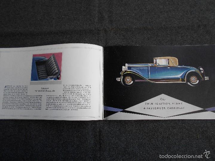 Coches y Motocicletas: Nash 400 año 1930 Lujoso Catálogo de 20 páginas con todos los modelos. Excelente estado. - Foto 8 - 58504993