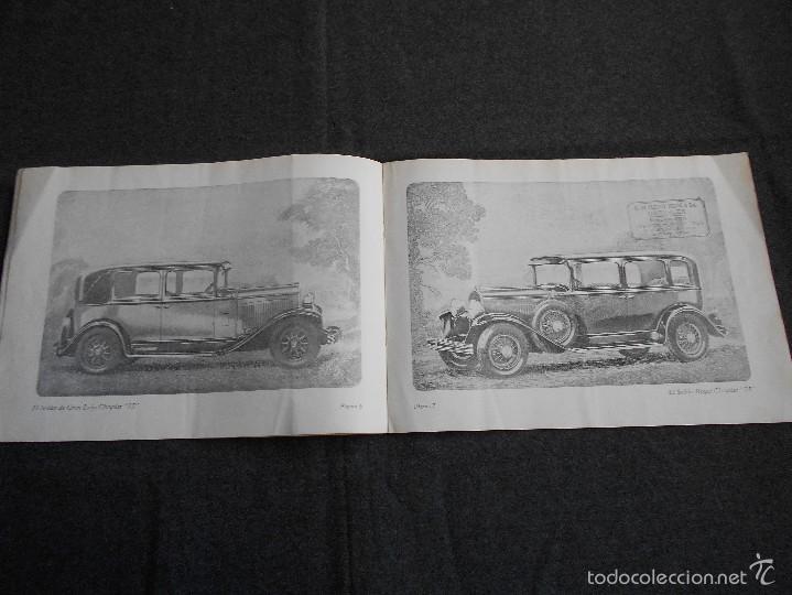 Coches y Motocicletas: Chrysler 75 Catálogo muy lindo de 16 páginas con todos los modelos y características técnicas. - Foto 4 - 58505017