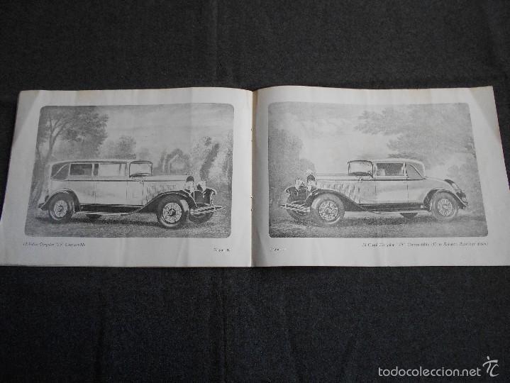 Coches y Motocicletas: Chrysler 75 Catálogo muy lindo de 16 páginas con todos los modelos y características técnicas. - Foto 6 - 58505017