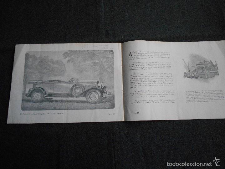 Coches y Motocicletas: Chrysler 75 Catálogo muy lindo de 16 páginas con todos los modelos y características técnicas. - Foto 7 - 58505017