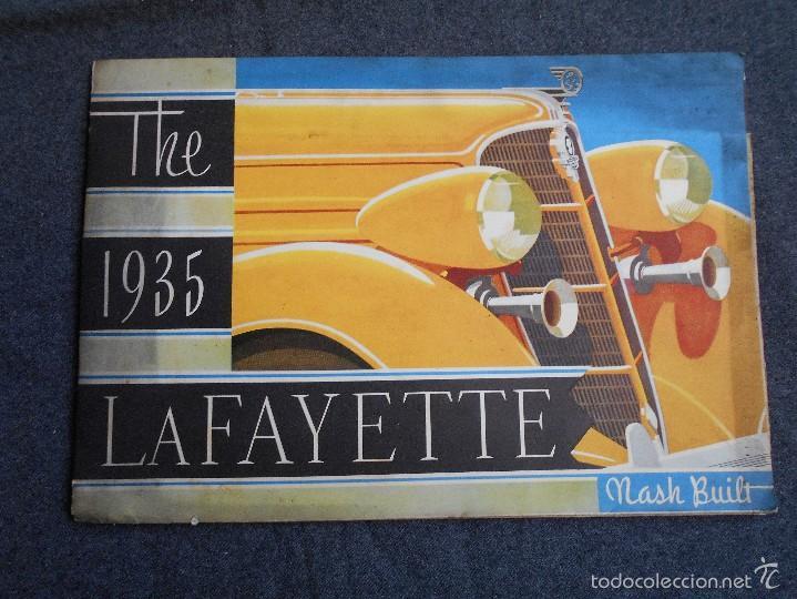 LUJOSO CATÁLOGO EN CASTELLANO THE 1935 LAFAYETTE NASH BUILT DESPLEGABLE. CARACTERÍSTICAS TÉCNICAS. (Coches y Motocicletas Antiguas y Clásicas - Catálogos, Publicidad y Libros de mecánica)
