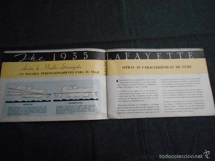 Coches y Motocicletas: Lujoso catálogo en castellano The 1935 lafayette nash built desplegable. Características técnicas. - Foto 2 - 58513782