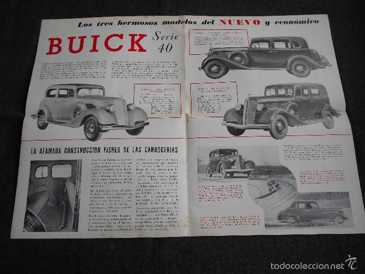 Coches y Motocicletas: Buick serie 40 catálogo con todos los modelos y características técnicas. Muy buen estado. - Foto 2 - 58513941