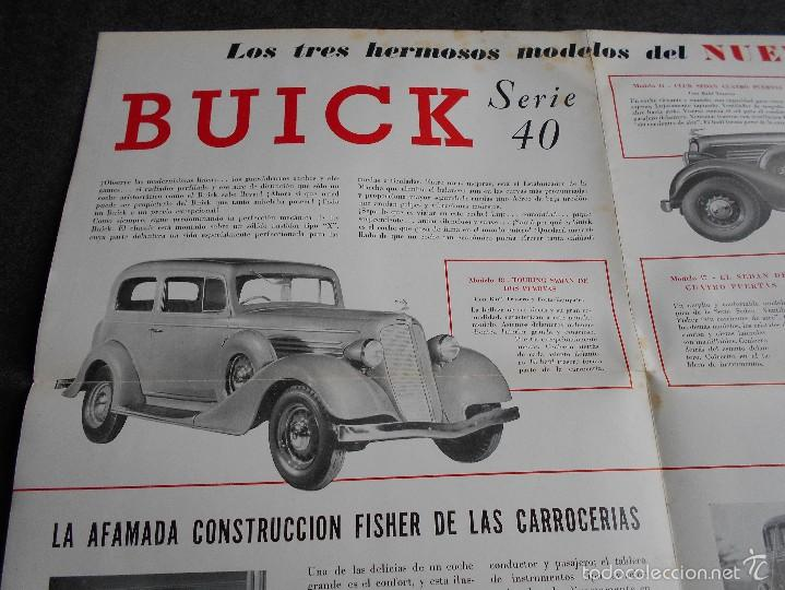 Coches y Motocicletas: Buick serie 40 catálogo con todos los modelos y características técnicas. Muy buen estado. - Foto 4 - 58513941