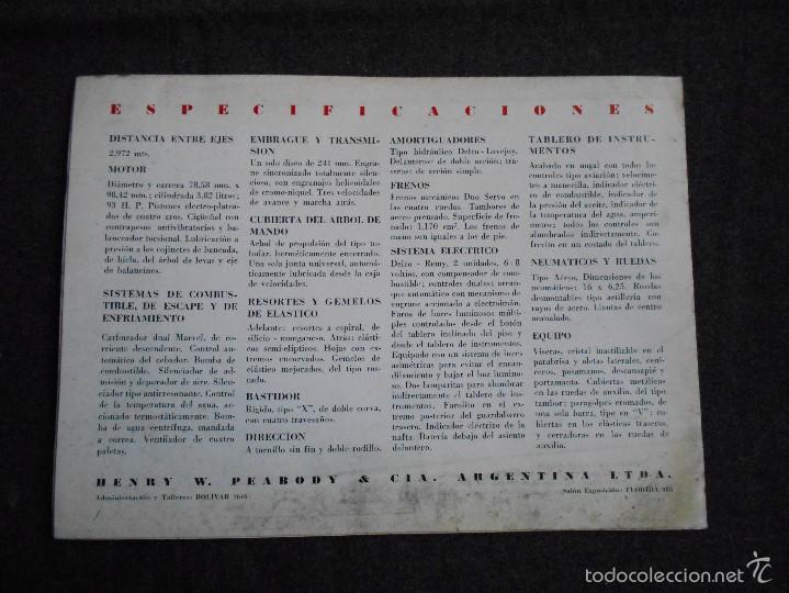 Coches y Motocicletas: Buick serie 40 catálogo con todos los modelos y características técnicas. Muy buen estado. - Foto 7 - 58513941