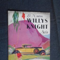 Coches y Motocicletas: WILLYS KNIGHT SEIS CATÁLOGO. Lote 58514127