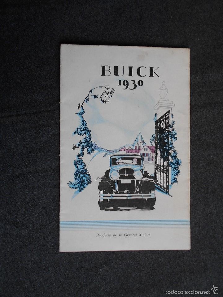 BUICK 1930 CATÁLOGO GENERAL MOTORS DESPLEGABLE CASTELLANO EXCELENTE ESTADO. CARACTERÍSTICAS TÉCNICAS (Coches y Motocicletas Antiguas y Clásicas - Catálogos, Publicidad y Libros de mecánica)