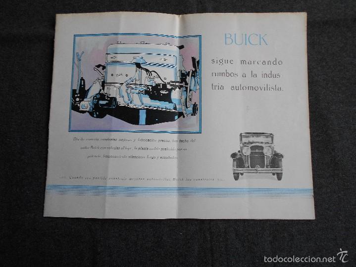 Coches y Motocicletas: Buick 1930 Catálogo General Motors desplegable castellano excelente estado. Características técnicas - Foto 2 - 58514423