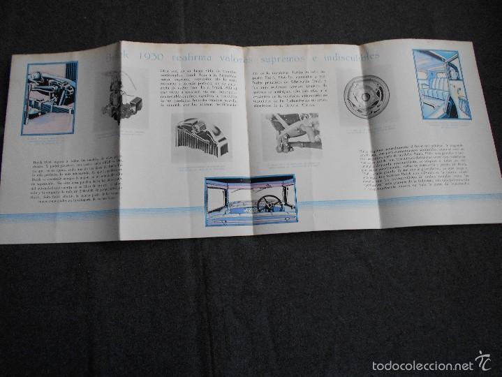 Coches y Motocicletas: Buick 1930 Catálogo General Motors desplegable castellano excelente estado. Características técnicas - Foto 3 - 58514423