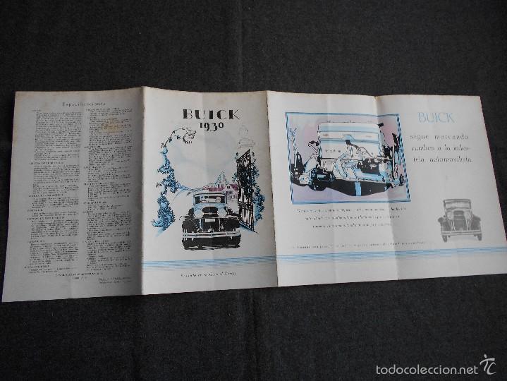 Coches y Motocicletas: Buick 1930 Catálogo General Motors desplegable castellano excelente estado. Características técnicas - Foto 4 - 58514423