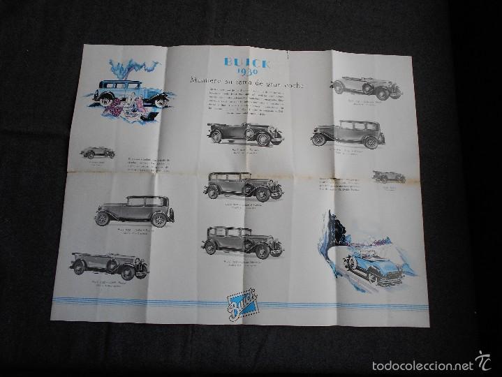 Coches y Motocicletas: Buick 1930 Catálogo General Motors desplegable castellano excelente estado. Características técnicas - Foto 5 - 58514423