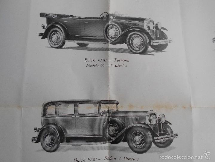 Coches y Motocicletas: Buick 1930 Catálogo General Motors desplegable castellano excelente estado. Características técnicas - Foto 7 - 58514423