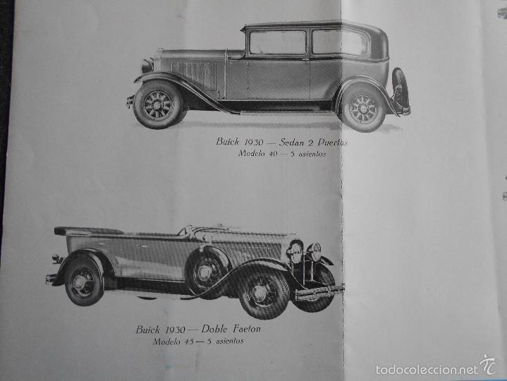 Coches y Motocicletas: Buick 1930 Catálogo General Motors desplegable castellano excelente estado. Características técnicas - Foto 8 - 58514423