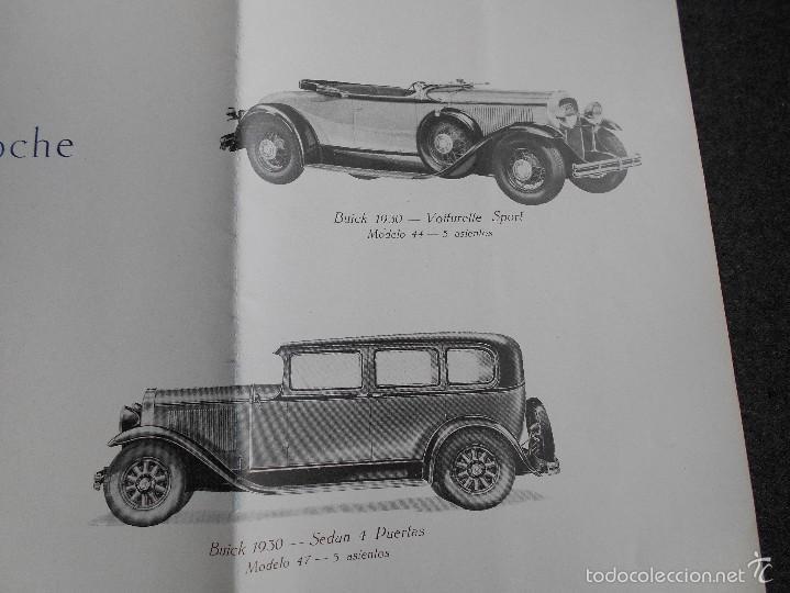 Coches y Motocicletas: Buick 1930 Catálogo General Motors desplegable castellano excelente estado. Características técnicas - Foto 9 - 58514423
