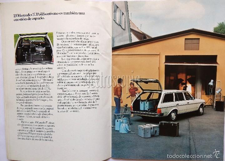 Coches y Motocicletas: CATALOGO PUBLICIDAD MERCEDES BENZ 240 TD / 300 TD / 230 T / 250 T / 280 TE EN CASTELLANO - Foto 2 - 58539166
