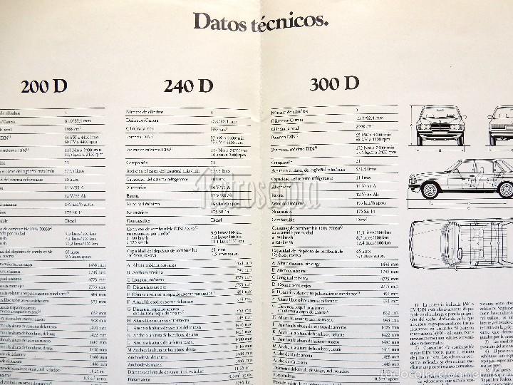Coches y Motocicletas: CATALOGO DIPTICO PUBLICIDAD MERCEDES BENZ LOS DIESEL 200 D / 240 D / 300 D EN CASTELLANO - Foto 2 - 58539223