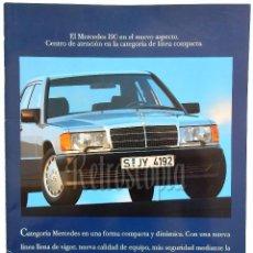 Coches y Motocicletas: CATALOGO PUBLICIDAD MERCEDES BENZ 190 (E 2.3 2.6 D 2.5 TURBO) AÑOS 80 EN CASTELLANO. Lote 147207890