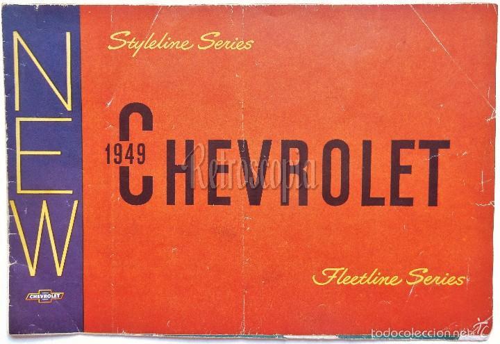 CATALOGO DESPLEGABLE PUBLICIDAD CHEVROLET 1949 FLEETLINE SERIES AÑOS 40 - 50 EN INGLÉS (Coches y Motocicletas Antiguas y Clásicas - Catálogos, Publicidad y Libros de mecánica)