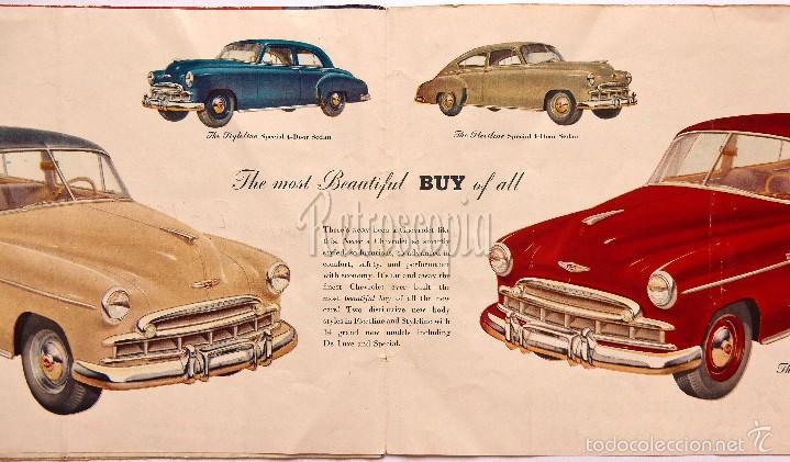 Coches y Motocicletas: CATALOGO DESPLEGABLE PUBLICIDAD CHEVROLET 1949 FLEETLINE SERIES AÑOS 40 - 50 EN INGLÉS - Foto 2 - 58540213