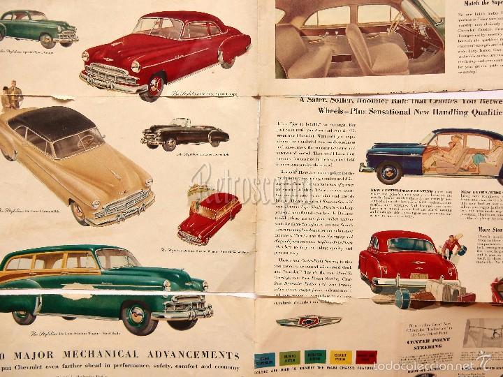 Coches y Motocicletas: CATALOGO DESPLEGABLE PUBLICIDAD CHEVROLET 1949 FLEETLINE SERIES AÑOS 40 - 50 EN INGLÉS - Foto 3 - 58540213
