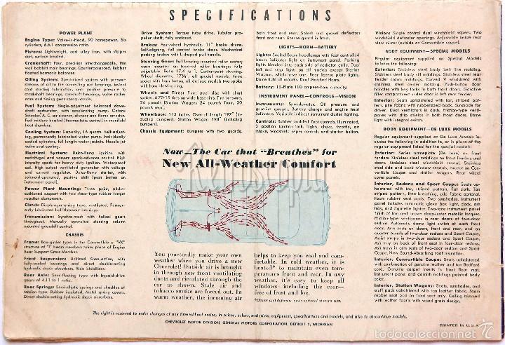 Coches y Motocicletas: CATALOGO DESPLEGABLE PUBLICIDAD CHEVROLET 1949 FLEETLINE SERIES AÑOS 40 - 50 EN INGLÉS - Foto 4 - 58540213