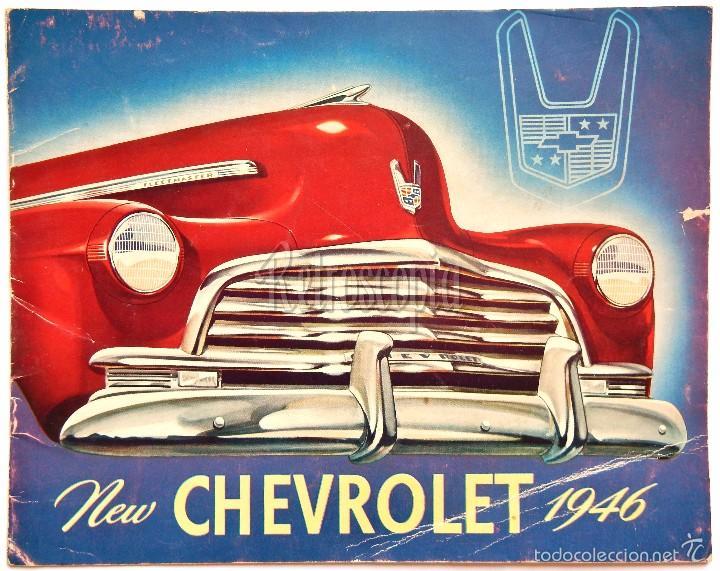 CATALOGO PUBLICIDAD CHEVROLET MODELOS DEL AÑO 1946 EN INGLÉS (Coches y Motocicletas Antiguas y Clásicas - Catálogos, Publicidad y Libros de mecánica)
