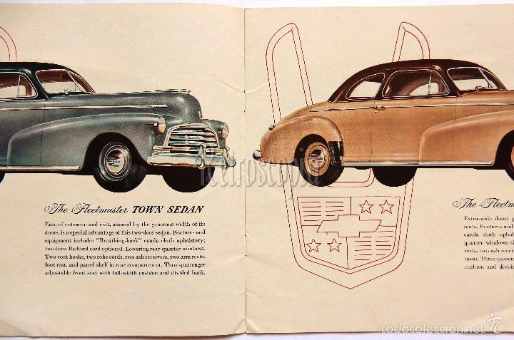 Coches y Motocicletas: CATALOGO PUBLICIDAD CHEVROLET MODELOS DEL AÑO 1946 EN INGLÉS - Foto 2 - 58540248