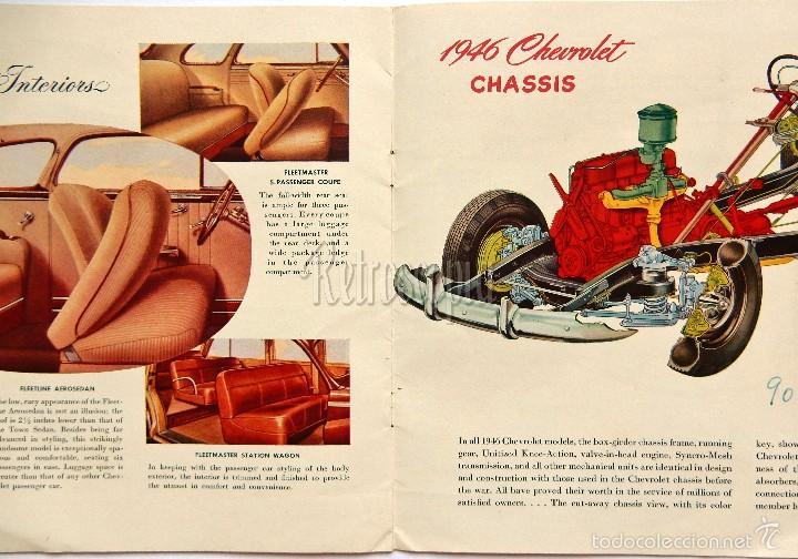 Coches y Motocicletas: CATALOGO PUBLICIDAD CHEVROLET MODELOS DEL AÑO 1946 EN INGLÉS - Foto 4 - 58540248