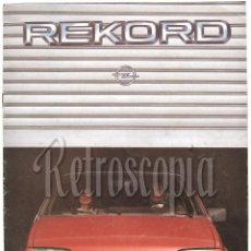 Coches y Motocicletas: CATALOGO PUBLICIDAD OPEL REKORD EN CASTELLANO. Lote 58561355