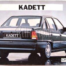Coches y Motocicletas: CATALOGO PUBLICIDAD OPEL KADETT AÑO 1986 EN CASTELLANO. Lote 71198751