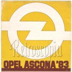 Coches y Motocicletas: CATALOGO PUBLICIDAD OPEL ASCONA 83 AÑO 1983 EN CASTELLANO. Lote 58561454