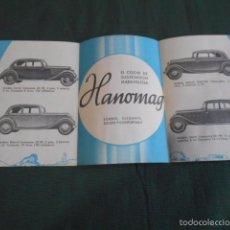 Coches y Motocicletas: HANOMAG TODOS LOS MODELOS FOLLETO PUBLICIDAD TRÍPTICO ORIGEN ARGENTINA. Lote 58568140