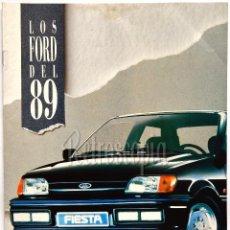 Coches y Motocicletas: CATALOGO PUBLICIDAD LOS FORD DEL 89 (FIESTA ESCORT ORION SIERRA SCORPIO...) AÑO 1989 EN CASTELLANO. Lote 96070116