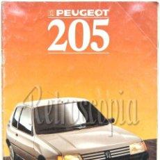 Coches y Motocicletas: CATALOGO PUBLICIDAD PEUGEOT 205 AÑO 1988 EN CASTELLANO. Lote 152065756