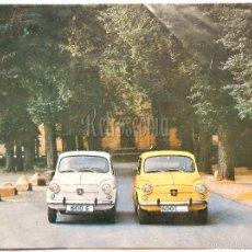 Coches y Motocicletas: CATALOGO DESPLEGABLE PUBLICIDAD SEAT 600 (E L) AÑO 1972 EN CASTELLANO. Lote 58579616