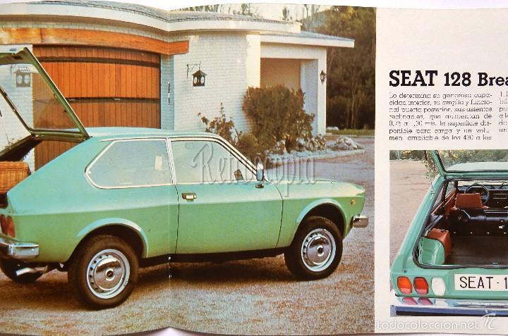Coches y Motocicletas: CATALOGO PUBLICIDAD SEAT 128 (BREAK BERLINA DEPORTIVO) AÑO 1977 EN CASTELLANO - Foto 3 - 96615975