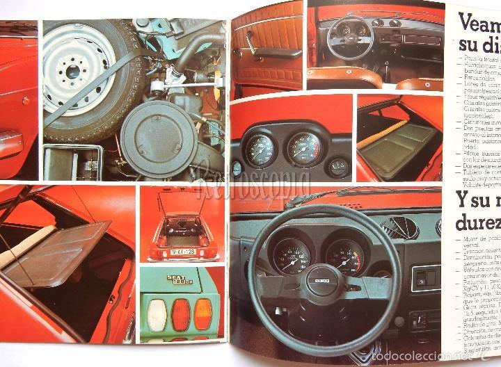 Coches y Motocicletas: CATALOGO PUBLICIDAD SEAT 128 (BREAK BERLINA DEPORTIVO) AÑO 1977 EN CASTELLANO - Foto 4 - 96615975