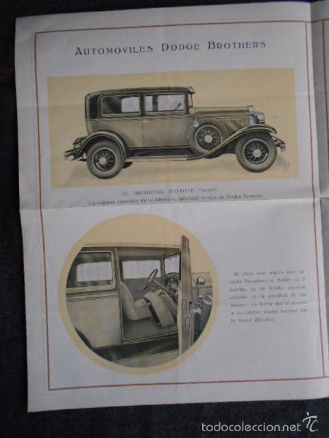 Coches y Motocicletas: dodge brothers. catálogo con buenas fotos con sus características mecánica y confort interior. - Foto 4 - 58585858