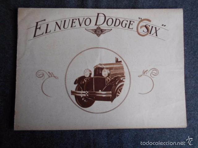 DODGE SIX CATÁLOGO PÓSTER CON FOTOS Y CARACTERÍSTICAS. EN CASTELLANO (Coches y Motocicletas Antiguas y Clásicas - Catálogos, Publicidad y Libros de mecánica)