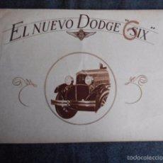 Coches y Motocicletas: DODGE SIX CATÁLOGO PÓSTER CON FOTOS Y CARACTERÍSTICAS. EN CASTELLANO. Lote 58586109
