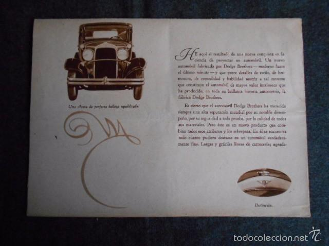 Coches y Motocicletas: Dodge six Catálogo póster con Fotos y características. En castellano - Foto 2 - 58586109