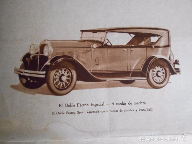 Coches y Motocicletas: Dodge six Catálogo póster con Fotos y características. En castellano - Foto 7 - 58586109