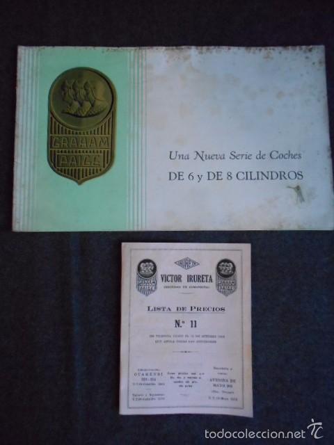 GRAHAM PAIGE 6 Y 8 CILINDROS LUJOSO CATÁLOGO CON TODOS LOS MODELOS. EN CASTELLANO. EXCELENTE (Coches y Motocicletas Antiguas y Clásicas - Catálogos, Publicidad y Libros de mecánica)