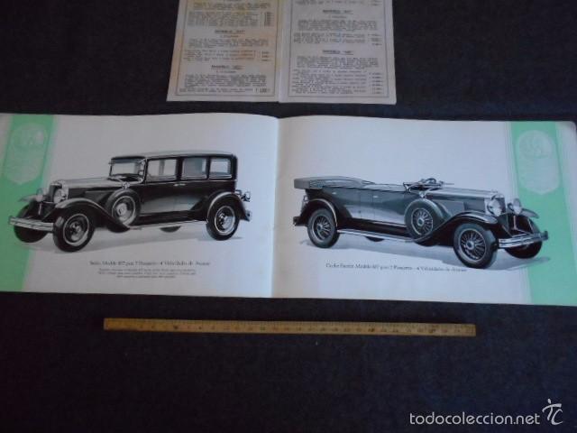 Coches y Motocicletas: Graham Paige 6 y 8 cilindros lujoso catálogo con todos los modelos. En castellano. excelente - Foto 10 - 58587893