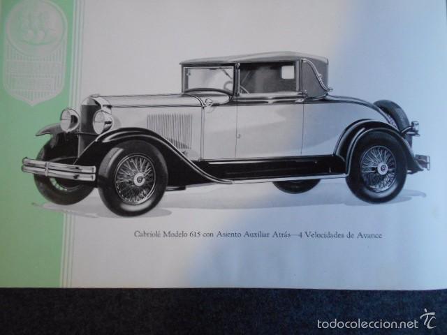 Coches y Motocicletas: Graham Paige 6 y 8 cilindros lujoso catálogo con todos los modelos. En castellano. excelente - Foto 20 - 58587893