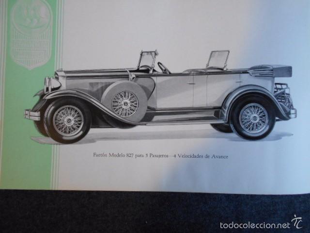 Coches y Motocicletas: Graham Paige 6 y 8 cilindros lujoso catálogo con todos los modelos. En castellano. excelente - Foto 26 - 58587893