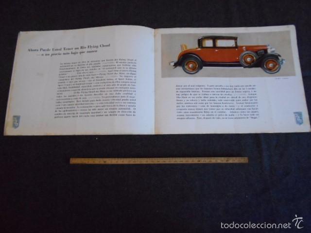 Coches y Motocicletas: rio fying cloud catálogo 1929 todos los modelos de coches y lista de precios Buenos Aires - Foto 4 - 58587959