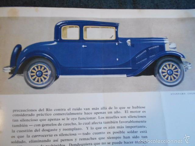 Coches y Motocicletas: rio fying cloud catálogo 1929 todos los modelos de coches y lista de precios Buenos Aires - Foto 9 - 58587959