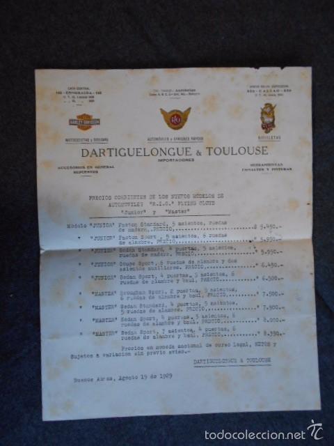 Coches y Motocicletas: rio fying cloud catálogo 1929 todos los modelos de coches y lista de precios Buenos Aires - Foto 12 - 58587959